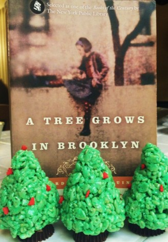 Rice Krispies Trees are the perfect pairing with Betty Smith's classic coming-of-age novel.