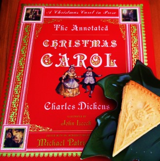 Dickens' A Christmas Carol with Scottish shortbread.