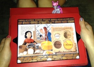 Sir Cumference and the Dragon of Pi by Cindy Neuschwander in the Reading Rainbow App.